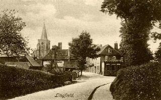 Old Postcard of Lingfield